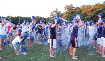 More than 400 people took the challenge at Sylvester Field in Hanover to support Kevin Gosnell, owner of T&K Asphalt of Whitman who was recently diagnosed with ALS, and his ALS Knights. Photos by Tracy Seelye.