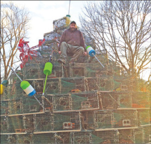 Lobsterman finds off-season notoriety with Christmas tree